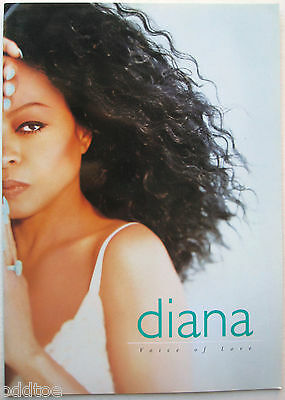 DIANA ROSS- Orig. 1997 Voice Of Love Tour Concert Program, hard to find