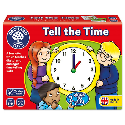 Orchard Toys Tell The Time Analogue and Digital Educational Childrens Game