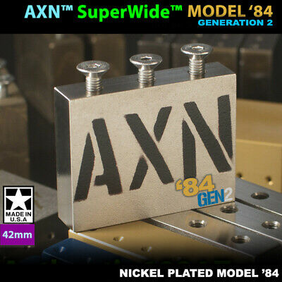42mm AXN™ SuperWide™ Model-84' Made in USA Steel Sustain Block for floyd rose