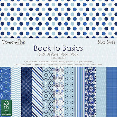 Dovecraft Back to Basics Blue Skies 8x8 Sample Paper Pack