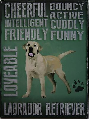 Labrador Retriever Pet Metal Sign