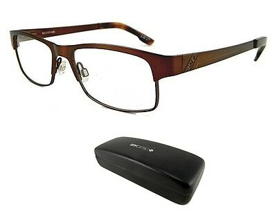 New Spy Optic Miles 52-17-145 Brown Mens Rx Prescription Eyeglass Frames Rt$160