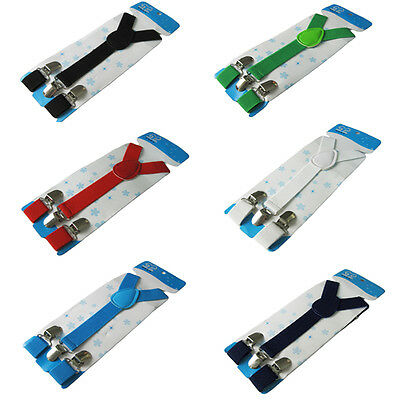 Boys Girls Kids Y-Back Elastic Brace Toddler Child Adjustable Clip-on Suspenders