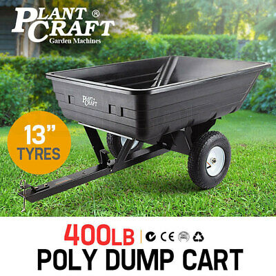 PLANTCRAFT Poly Dump Cart 400LBS Tray - Tow Quad Garden Tip Trailer ATV Ride