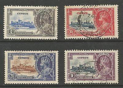 Cyprus  The. 1935 Gv Silver Jubilee Set Fine Used Cat £35