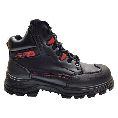 Blackrock Panther Black Leather Safety Boots Water Resistant Work Shoes (SF42)