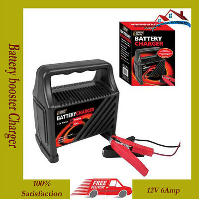 NEW 12V 6Amp Battery booster Charger Car van 12 V motorcycle 6A trickle charge