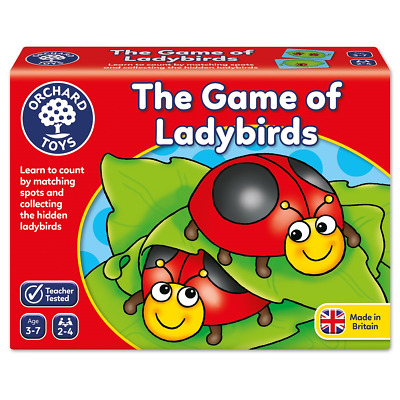 Orchard Toys Ladybirds Ladybird Game Vintage Complete Baby Toddler Child Board