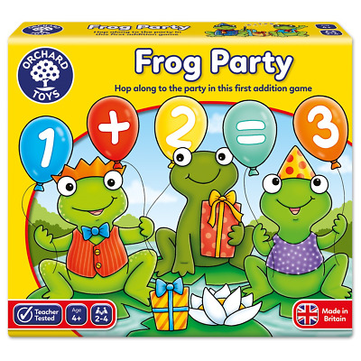 Orchard Toys Frog Party Games Educational Childrens Board Game Kids Learning