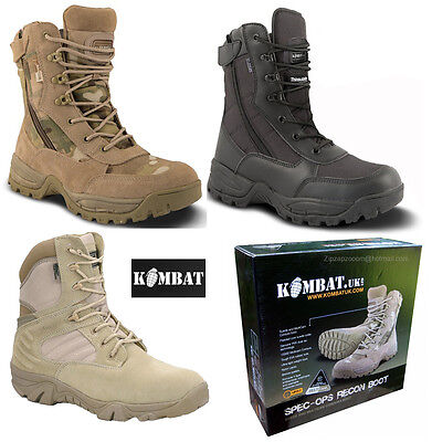 Mens Army Combat Military Patrol Boots Special Forces Black Desert Multicam New