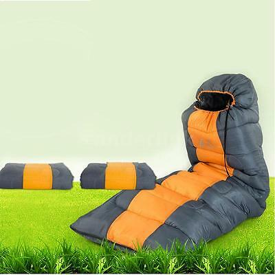 Thermal Adult Sleeping Bag Autumn Winter Envelope Outdoor Travel Camping D7O6