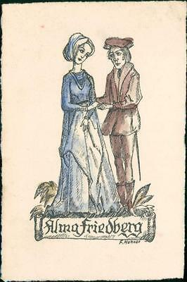 Alma Friedberg. F. Huhnen. Bookplate QC.720