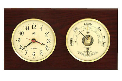 Bey-Berk Wall Clock with Barometer and Thermometer BYB1127