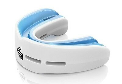 NEW Shock Doctor Nano Double Fight White Karate Judo Mouthguard Molded Gel fit