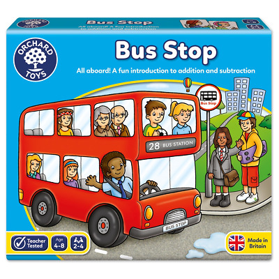 Bus Stop Orchard Toys Game and Fun Learning Games Addition Subtraction Age 4 Box