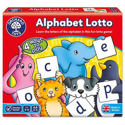 Alphabet Lotto Orchard Toys Educational Games Letters Learn Complete Toy Young