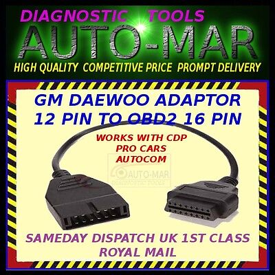 Gm Daewoo Diagnostic Lead Obd1 12 Pin To Obd2