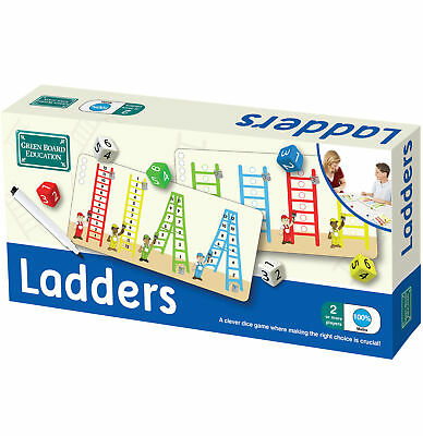 Ladders Dice Game Maths Mental Addition Numbers Educational Children Kids