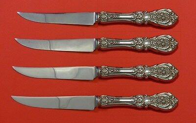 """Francis I by Reed & Barton Sterling Silver Steak Knife Set 4pc HH Custom 8 1/2"""""""