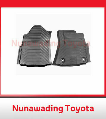 Genuine Toyota New Hilux Front Rubber Floor Mats Set 9/ 2015 Onward - Manual