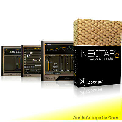 iZotope NECTAR 2 PRODUCTION SUITE EDU Complete Vocal Software Plug-in NEW