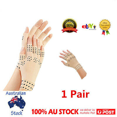 1 Pair Arthritis Pressure Magnetic Pain Relief Heal Joint Therapy Support Gloves