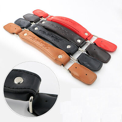 Luggage Replacement PU Leather Handle Fix Holders Suitcase Box Pull Carry Strap