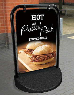 Hot Food Pulled Pork Served Here Pavement Sign Advertising Shop Display