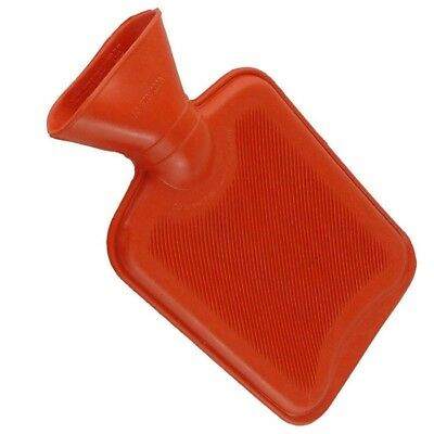 Red Natural Rubber Hot Water Bottle 2 Litre - Conforms To BS1970:2012 NEW