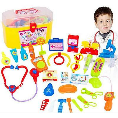 Doctor and Nurse Medical Toy Surgeon First Aid Kit&Play set for Children kids ##