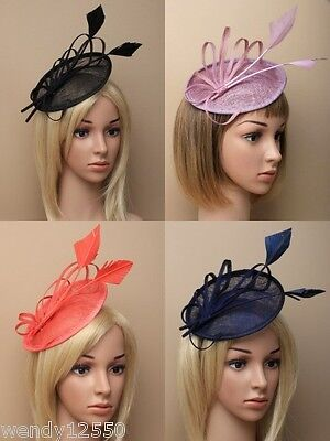 Pack Of 2 Hessian Loops & Feather Fascinators On An Alice Band