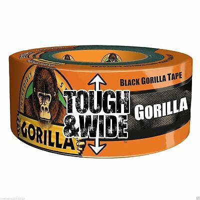 Black Gorilla Tape Wide Thick String Duct Tape Tough Weatherpoof 73mm x 27m