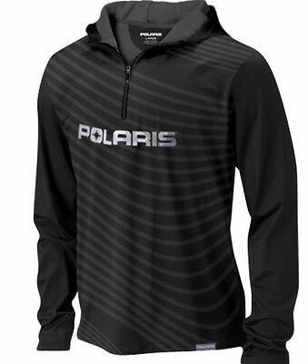 Genuine Polaris Apparel Slope Performance Hoodie Sweatshirt Black FREE SHIP