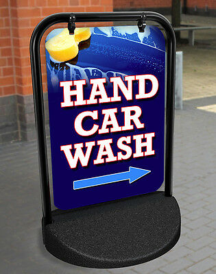 Hand Car Wash Pavement Sign Advertising Street Display