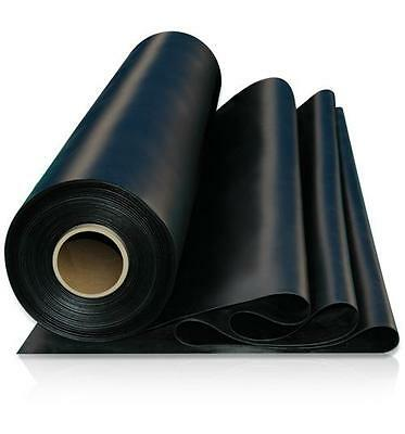 Black Solid Industrial Flooring Rubber Sheeting 1M X 1.4M  X 1Mm To 25Mm Thick