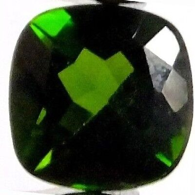 NATURAL SPARKLING TOP AAA GREEN CHROME DIOPSIDE (5.1 X 5.1 mm) CUSHION CUT