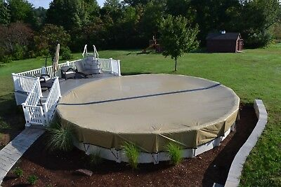 HPI 18' Round Above Ground Swimming Pool ULTIMATE ARMORKOTE Winter Cover