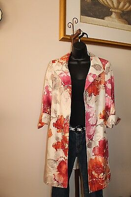 3 Sisters Jacket XS,M,L 6029 3S974 Nikki Women's Long Tunic Dressy Coat USA Made