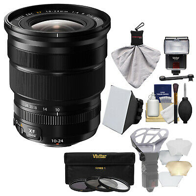 Fujifilm 10-24mm f/4.0 F4.0 XF R OIS Lens & Flash Bundle