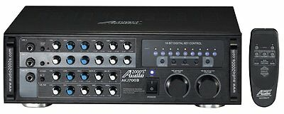 AUDIO2000 PROFESSIONAL KARAOKE MIXER AMPLIFIER w/ KEY CONTROL & ECHO - AKJ7003