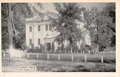 St George South Carolina Court House Exterior Antique Postcard K25689