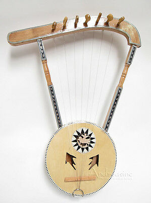 Brand New Traditional Authentic Egyptian Semsemia Lyre Simsimiyya Harp