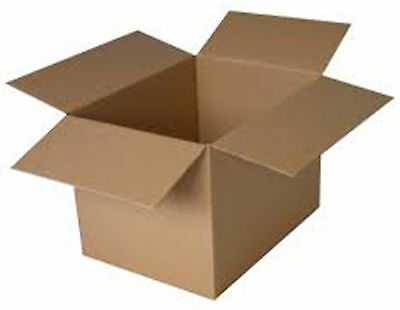 "Cardboard Box - 20cm 8"" Small Square Packaging Boxes Brown 1,5,10,50-203x203x203"
