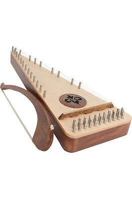 New Left Hand Carved Solid Spruce & Sheesham Soprano Psaltery & Bow - Pssrl