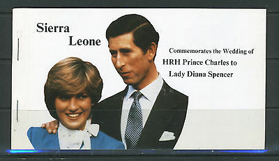 SIERRA LEONE--Booklet for the Royal Wedding Issue