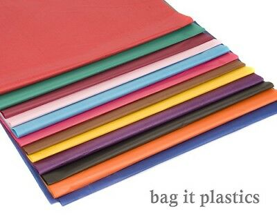 "100 SHEETS OF COLOURED TISSUE PAPER 20"" x 30"" / 500mm x 750mm / 50cm x 75cm"