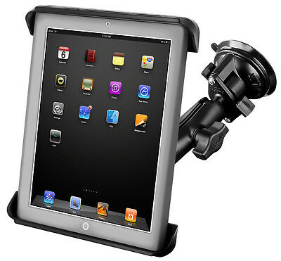"RAM Mount iPad 10"" Car Suction cup windscreen glass Samsung Tab RAM-B-166-TAB3"