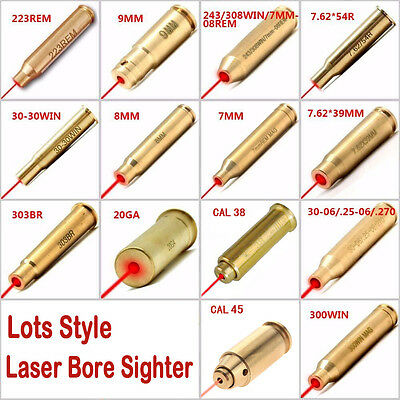Lots Style Red Dot Laser Cartridge Bore Sighter Caliber Cartridge Boresighter