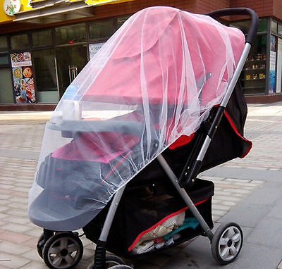 Cute Infants Baby Stroller Pushchair Mosquito Insect Net Safe Mesh Buggy
