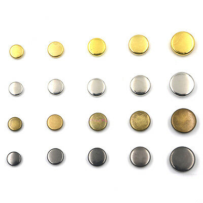 Round Flat Rivet Metal Spikes Bead Studs Leathercraft Biker Rapid DIY Punk Rock